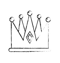 Figure nice crown of king to glory and pawer vector
