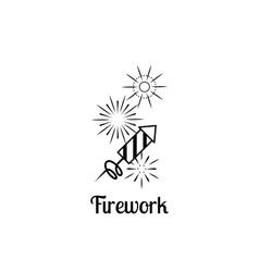 Firework company logo vector image
