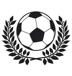 Football ball and laurel wreath vector