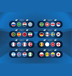 football tournament scheme infographic vector image