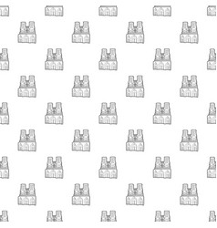French castle pattern seamless vector
