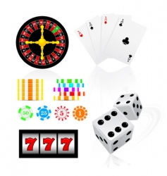 Gambling icon set vector