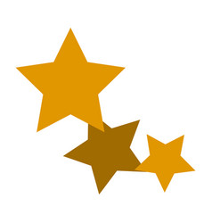 Gold stars icon favorite business internet trendy vector