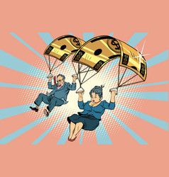 golden parachute financial compensation in the vector image