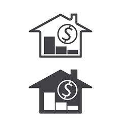 home price down vector image vector image