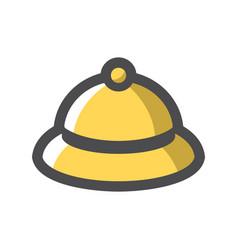 hotel bell call button cartoon vector image