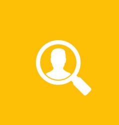 Hr recruitment icon vector