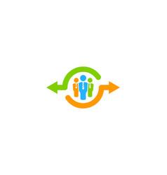 Job share logo icon design vector