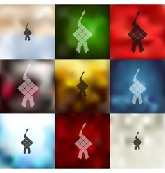 ketupat icon on blurred background vector image