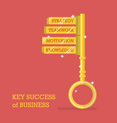 key success of business vector image