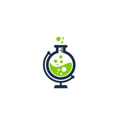 lab globe logo icon design vector image