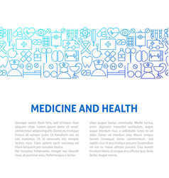 medicine health line design template vector image