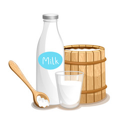milk product isolated icon vector image