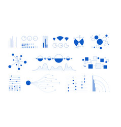 minimal infographic simple schemes and diagrams vector image