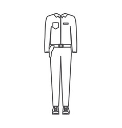 monochrome silhouette of uniform of policeman vector image