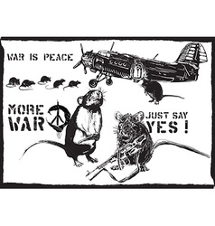 More war rats - hand drawn vector
