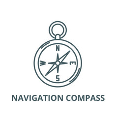 navigation compass line icon linear vector image