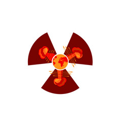nuclear explosion atomic bomb vector image