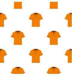 Orange men polo shirt pattern seamless vector