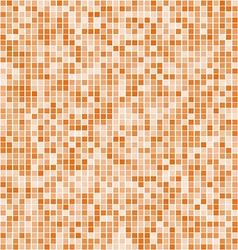 Orange square mosaic background vector image