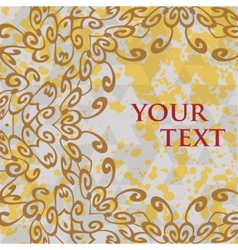 Ornate frame for text in oriental style vector
