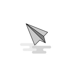 paper plane web icon flat line filled gray icon vector image