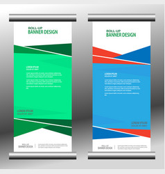 roll up banner 030 vector image