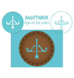 Sagittarius signs of the zodiac lazenaya vector
