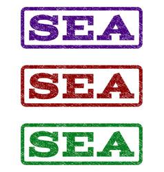 sea watermark stamp vector image