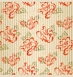 Seamless pattern with sketch roses vector