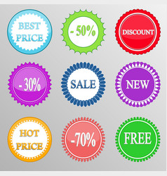 Set discount labels vector