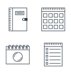 Set of notebook icons vector