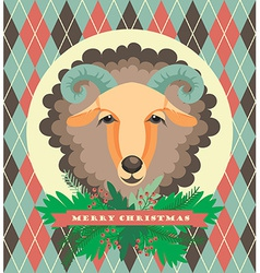 sheep symbol of 2015 vector image