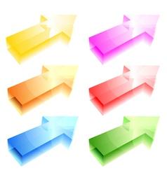 Shiny arrows vector