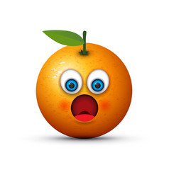 shocked orange vector image