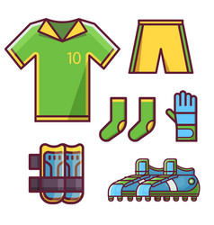soccer football team uniform set vector image