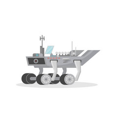 Space rover isolated icon vector