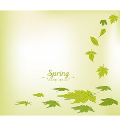 Spring faling leaves background vector