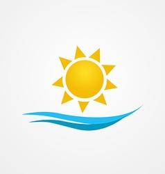 Sunrise sun vector
