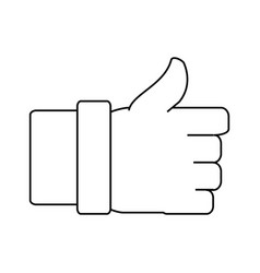 Thumb up like symbol vector