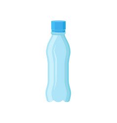transparent plastic bottle for mineral water vector image