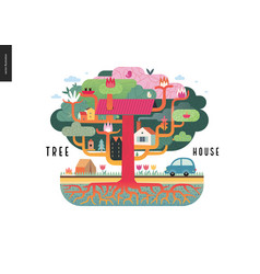 tree house concept vector image