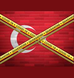 Turkey in quarantine vector