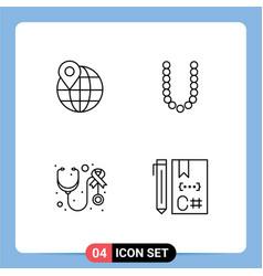 Universal icon symbols group 4 modern vector