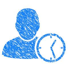 User temporary clock grunge icon vector