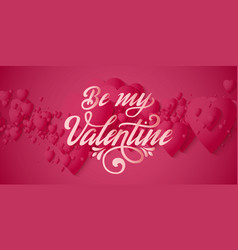 valentines day card elegant red hearts vector image