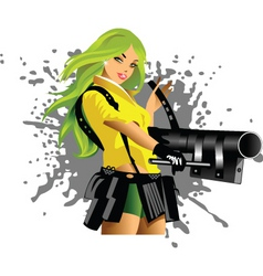 valkyrie vector image vector image