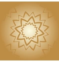 Vintage arabian mandala pattern Hand drawn vector image