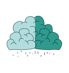 Watercolor silhouette of clouds with the rain vector