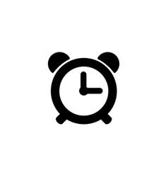 web icon alarm clock black on white background vector image
